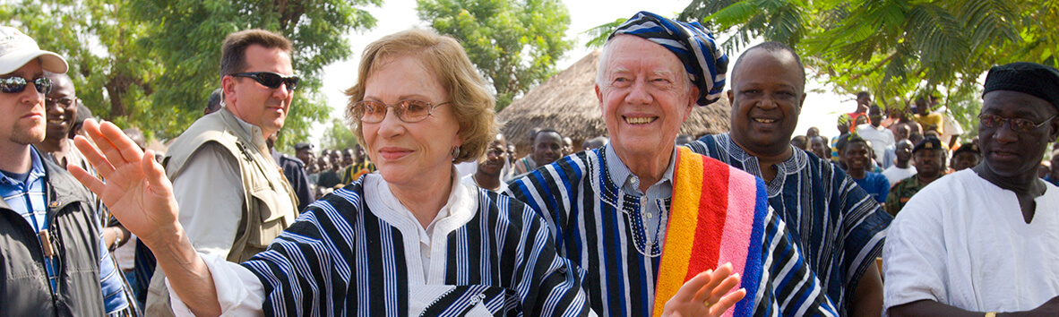 President and Mrs. Jimmy Carter helping in Africa
